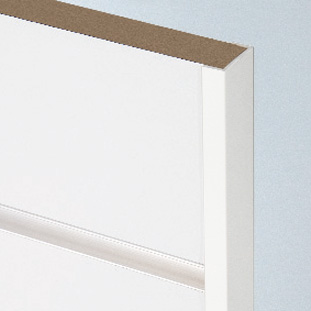 1032 White Slatwall End Capping 8FT (2440mm)